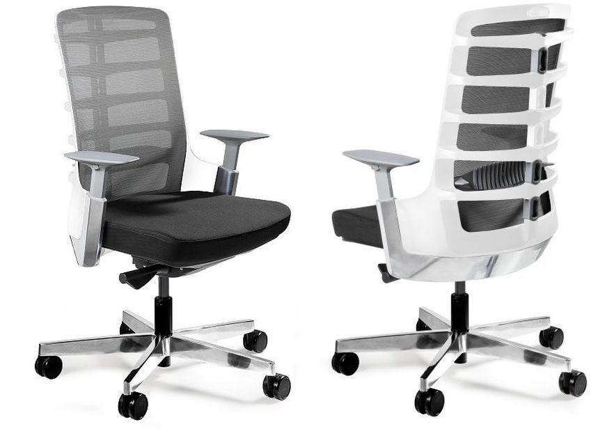 Spinelly M Ergonomiczny Fotel Biurowy Z Innowacyjnym Oparciem Biały
