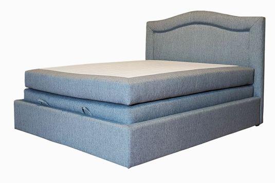 Santiago łóżko Kontynentalne 160x200 Tapicerowane Z Pojemnikiem Na Pościel